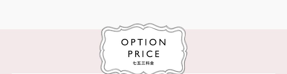OPTION PRICE 七五三料金